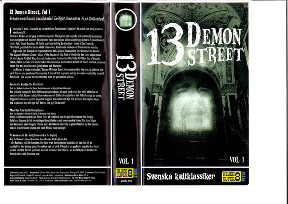 13 DEMON STREET VOL 1 (vhs)