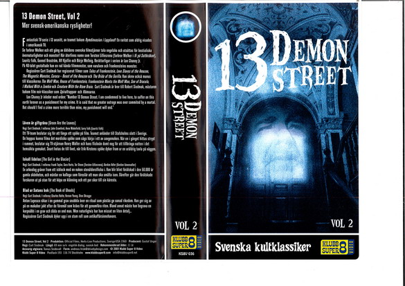 13 DEMON STREET VOL 2 (vhs)