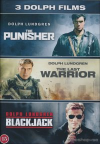 3 Dolph Lundgren Filmer: The Punisher / Last warrior / Blackjack