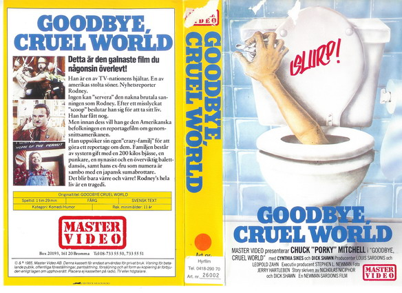8515 GOODBYE CRUEL WORLD (VHS) master