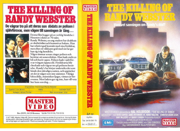 8524 KILLING OF RANDY WEBSTER  (VHS)