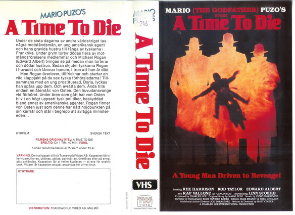 A TIME TO DIE (video 2000)