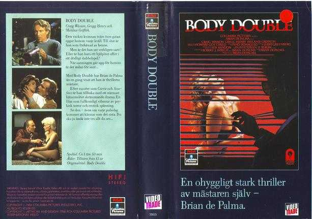 25033 BODY DOUBLE (VHS)