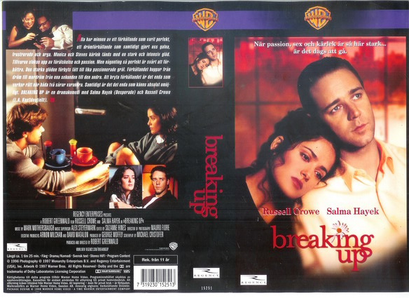 BREAKING UP (vhs)