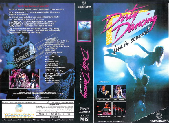 DIRTY DANCING -LIVE I CONCERT (VHS)
