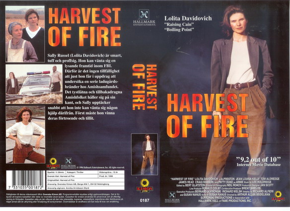 0187 HARVEST OF FIRE (vhs)