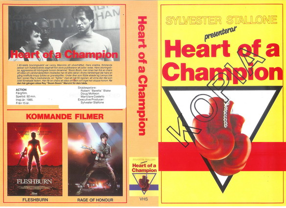 HEART OF A CHAMP (VHS)