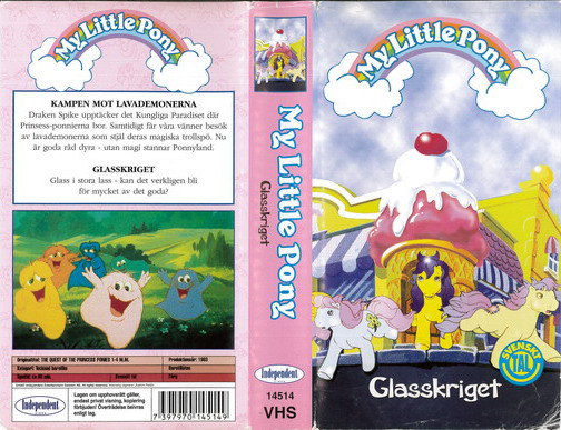 MY LITTLE PONY GLASSKRIGET (VHS)