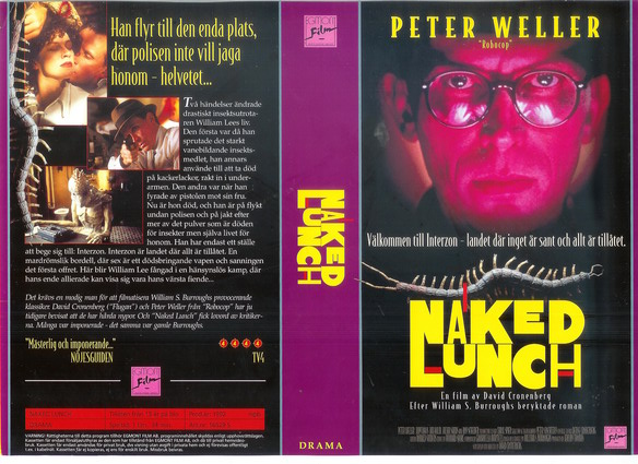 NAKED LUNCH (vhs) tittkopia