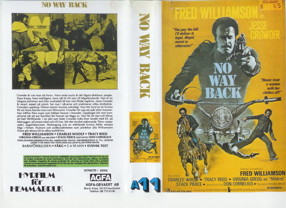A11 NO WAY BACK (VHS)