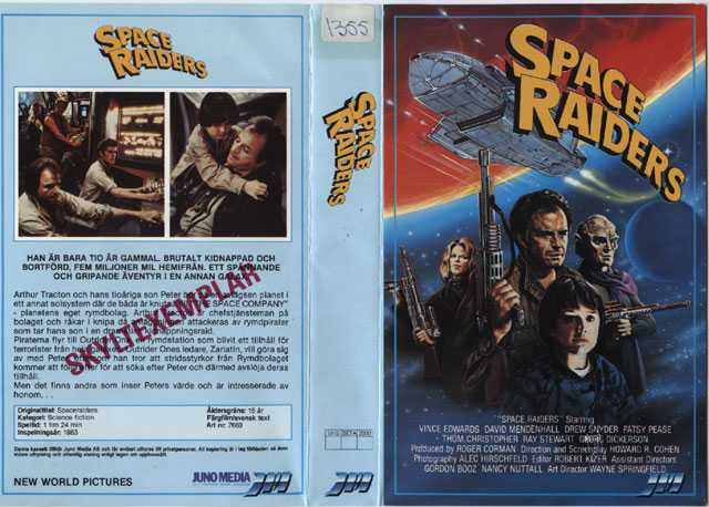 7669 Space Raiders (VHS)