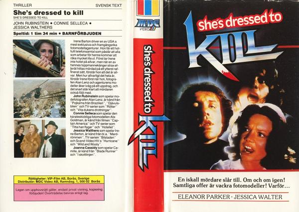 SHE'S DRESSED TO KILL (VHS)