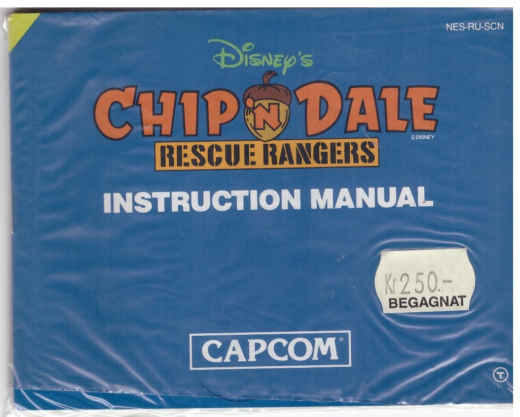 CHIP'N DALE (NES MANUAL)