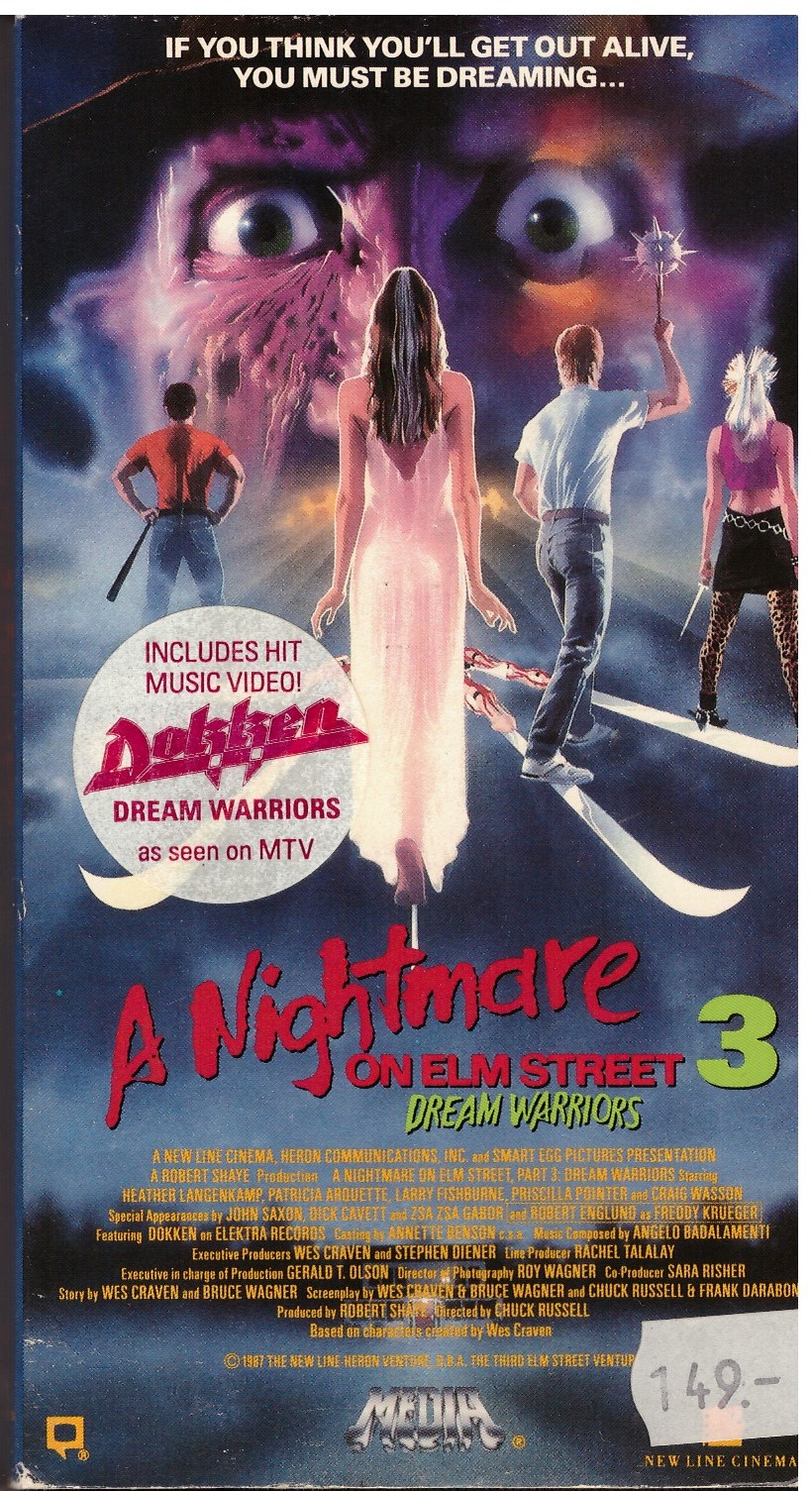 A NIGHTMARE ON ELMSTREET 3 (VHS) USA