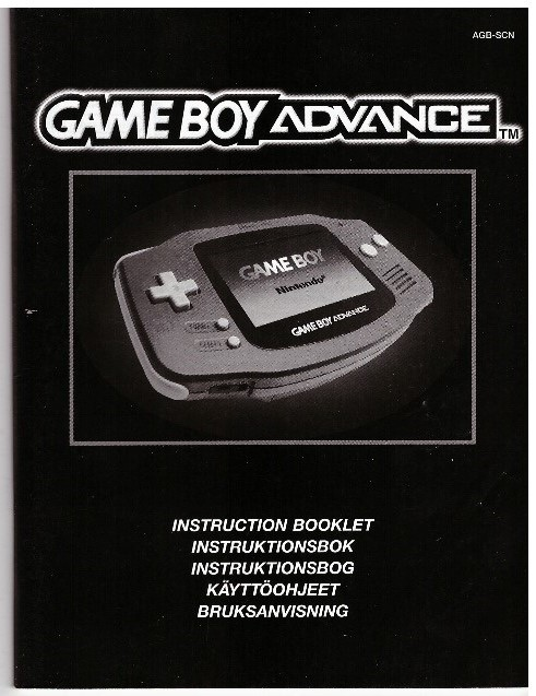GAME BOY ADVANCE INSTRUCTION BOOKLET (AGB-SCN)