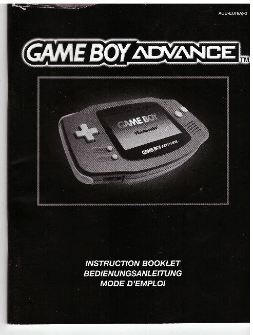 GAME BOY ADVANCE INSTRUCTION BOOKLET (AGB-EUR(A)-3