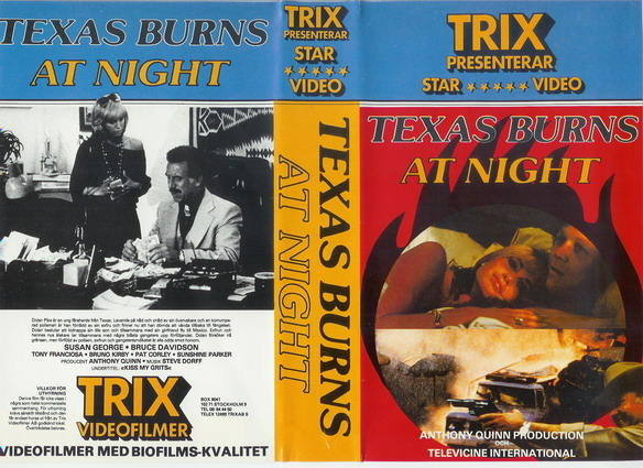 TEXAS BURNS AT NIGHT  (VHS)