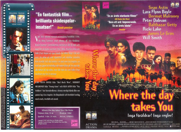 WHERE THE DAY TAKES YOU (vhs)