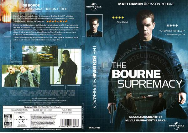 BOURNE SUPREMACY (VHS)