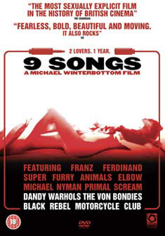 9 SONGS (BEG DVD) UK