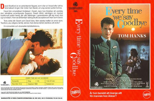 EVERY TIME WE SAY GOODBYE (VHS)