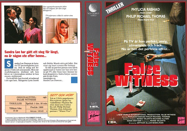 FALSE WITNESS (vhs)