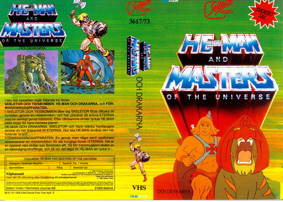 3617/73 HE-MAN AND THE MASTERS OF UNVERSE OCH DRAKARNA (VHS)