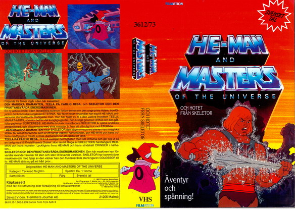 HE-MAN AND THE MASTERS OF UNVERSE  OCH HOTET FRÅN SKELETOR