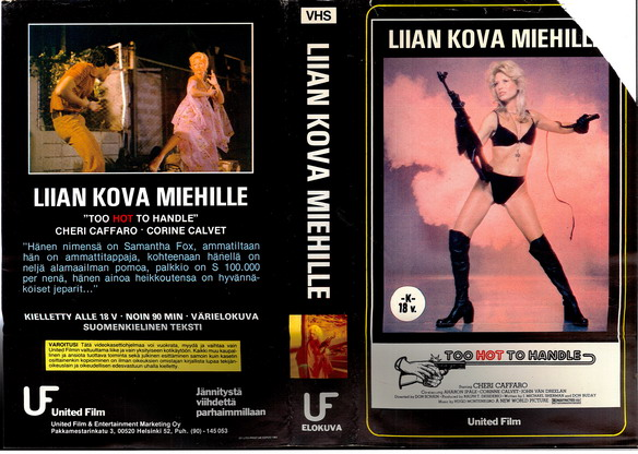 TOO HOT TO HANDLE (VHS) FINLAND IMPORT