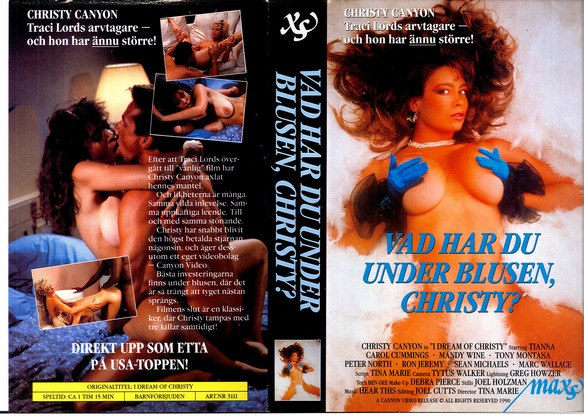 3111 VAD HAR DU UNDER BLUSEN CHRISTY ? (vhs)