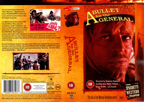 A BULLET FOR THE GENERAL - UK (VHS)