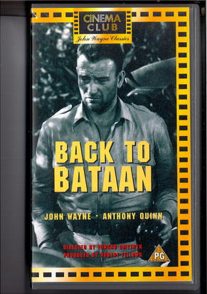 BACK TO BATAAN - UK (VHS)