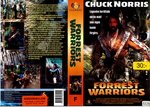 3941 FORREST WARRIORS (vhs)