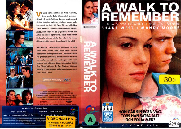 A WALK TO REMEMBER (VHS)
