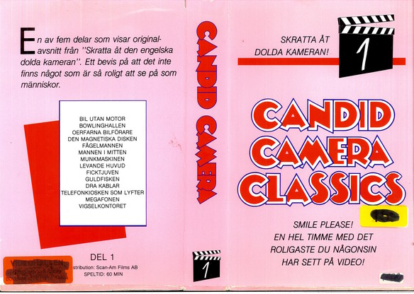 CANDID CAMERA 1 (VHS)