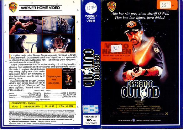 OPERATION OUTLAND (vhs)