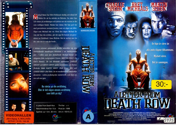 A LETTER FROM DEATH ROW (VHS)