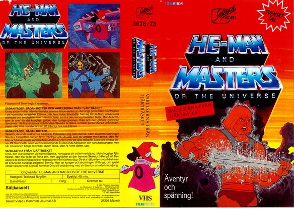 3676/73 HE-MAN AND MASTERS OF THE UNIVERSE - VARLERSERNA .. (VHS