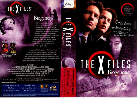 X FILES:BIOGENISIS (VHS)