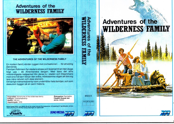 85023 ADVENTURES OF THE WILDERNESS FAMILY (vhs) kopierat omslag