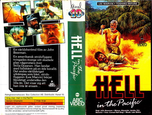 HELL IN THE PACIFIC (VHS) pappask