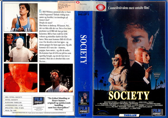 SOCIETY (VHS) norge
