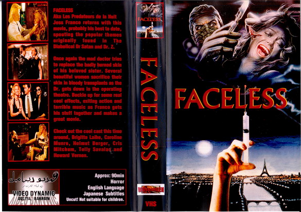 FACELESS (vhs) BAH
