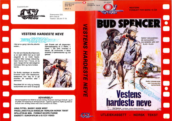 BUDDY GOES WEST -(VHS) NORGE