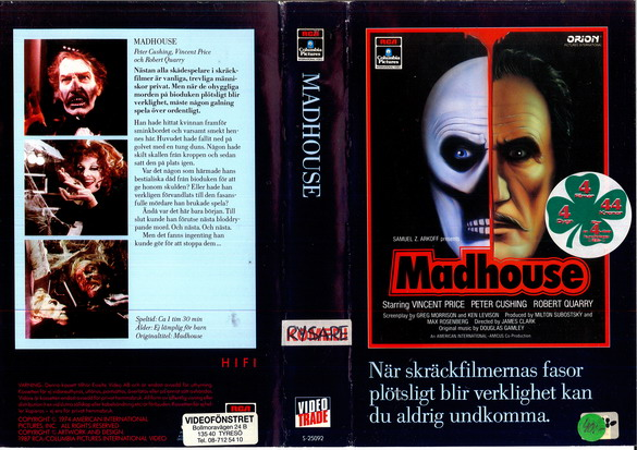 MADHOUSE (VHS )