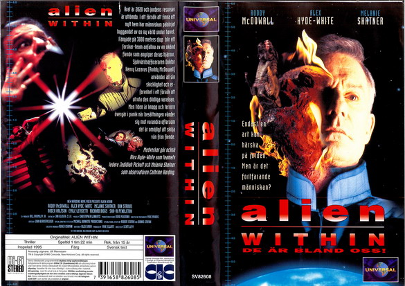 ALIEN WITHIN (VHS)