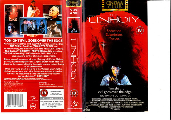 UNHOLY (VHS) UK