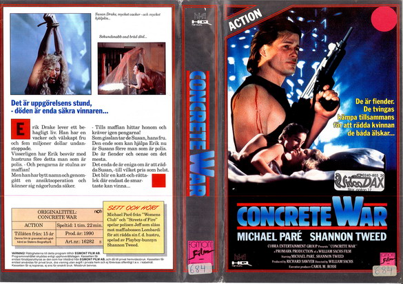 CONCRETE WAR (vhs)