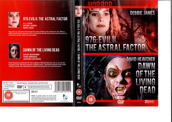 976 EVIL 2 + DAWN OF THE LIVING DEAD - (BEG DVD)