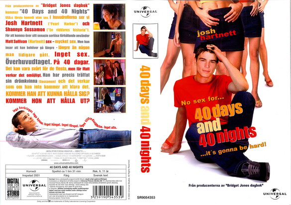 40 DAYS AND NIGHTS (VHS)